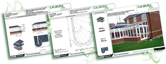 Windows, Conservatories 3D reports, baseplans, roofplans & more.