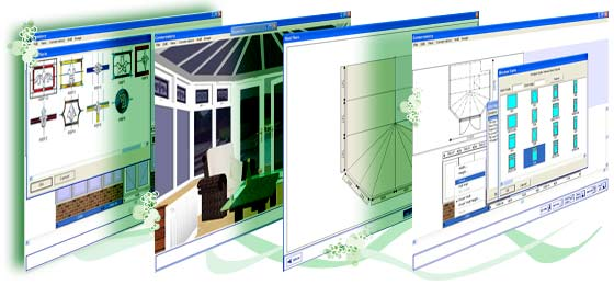 Conservatory software for production, sales and manfacture for pvcu, timber and aluminium.